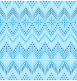 Blue ethnic seamless pattern vector image