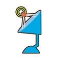 cartoon antenna dish radar technology icon vector image