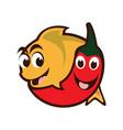 chili fish vector image