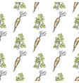 healthy carrot and parsley sprig seamless pattern vector image