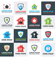 Home Security Logos Set vector image