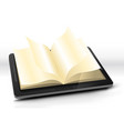 open book in tablet pc vector image