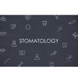 Stomatology Thin Line Icons vector image
