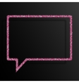 Frame Pink Sequins Speech Bubble Sparkle Stars vector image