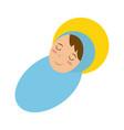 Baby jesus sleeping icon image vector image