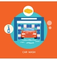 Business concept car wash best clean non stop auto vector image