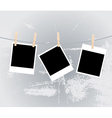 photos clothespins vector image