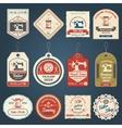 Tailor shop badges labels icons set vector image