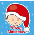 child with Santa Claus hat vector image vector image