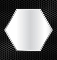 abstract metal texture background with hexagon vector image