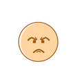 angry cartoon face negative people emotion icon vector image