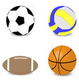 Balls rugby football basketball soccer volleyball vector image