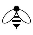 bee the black color icon vector image