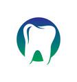 circle tooth dental healthcare logo vector image