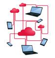 cloud networking vector image