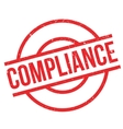 Compliance rubber stamp vector image