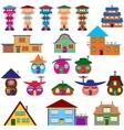 House cartoon set vector image
