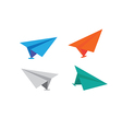icons paper planes vector image