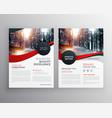 modern red business flyer poster design template vector image