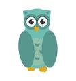 Owl bird icon flat vector image