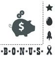 piggy money bank vector image
