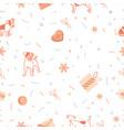 seamless christmas pattern xmas and winter holida vector image