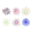 Set Firework design on white background vector image