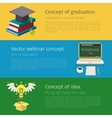 Set of online education concept vector image