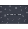 Stomatology Thin Line Icons vector image