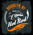 vintage hot rod logo concept isolated on vector image