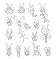 Cartoon insects vector image vector image
