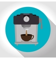 machine coffee with cup coffee graphic vector image
