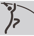 pole vault icon vector image