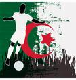 Football Algeria vector image vector image