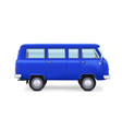 Retro travel van on white background vector image vector image