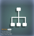 social network icon On the blue-green abstract vector image