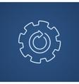 Gear wheel with arrow line icon vector image