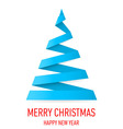 Christmas tree made of folded paper origami 05 vector image vector image