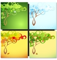 Abstract season tree vector image