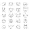 Animals Icons Line Set vector image