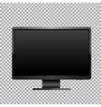 black monitor transparent background vector image