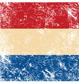 Holland retro flag vector image