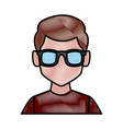 man with sunglasses profile vector image