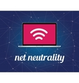 net neutrality concept with signal vector image