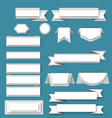 Paper ribbos and banners vector image