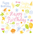 Set elements Birthday vector image