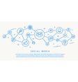 social media icons fhin design concept vector image