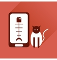 Flat web icon with long shadow mobile pet vector image