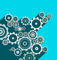Cogs - Gears Long Shadow Flat Design Technology vector image vector image