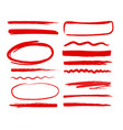 hand drawn shapes vector image